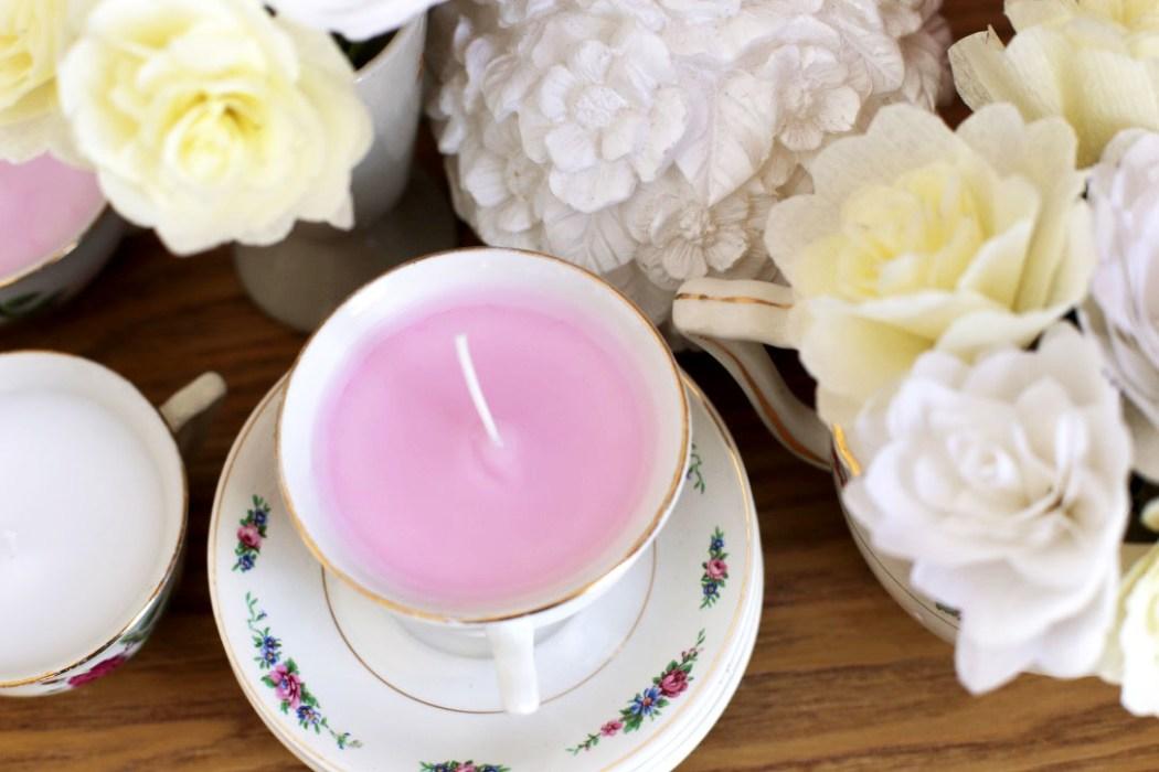 160323 bougie vintage Détourner ses tasses vintage en bougies