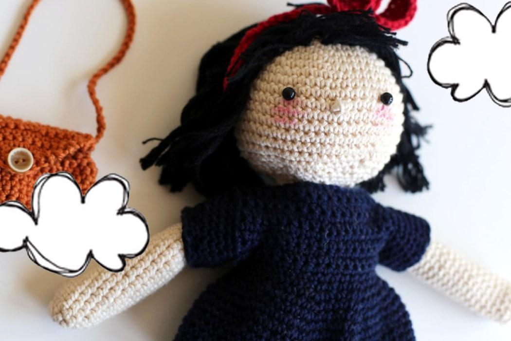 160508 kiki la petite sorciere crochet visage Une poupée Kiki la petite sorcière au crochet