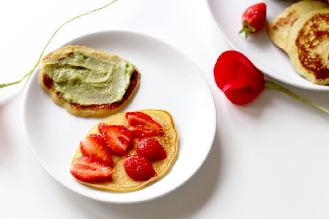 160614 dorayaki macha ichigo Dorayaki à la crème de thé vert Macha et aux fraises