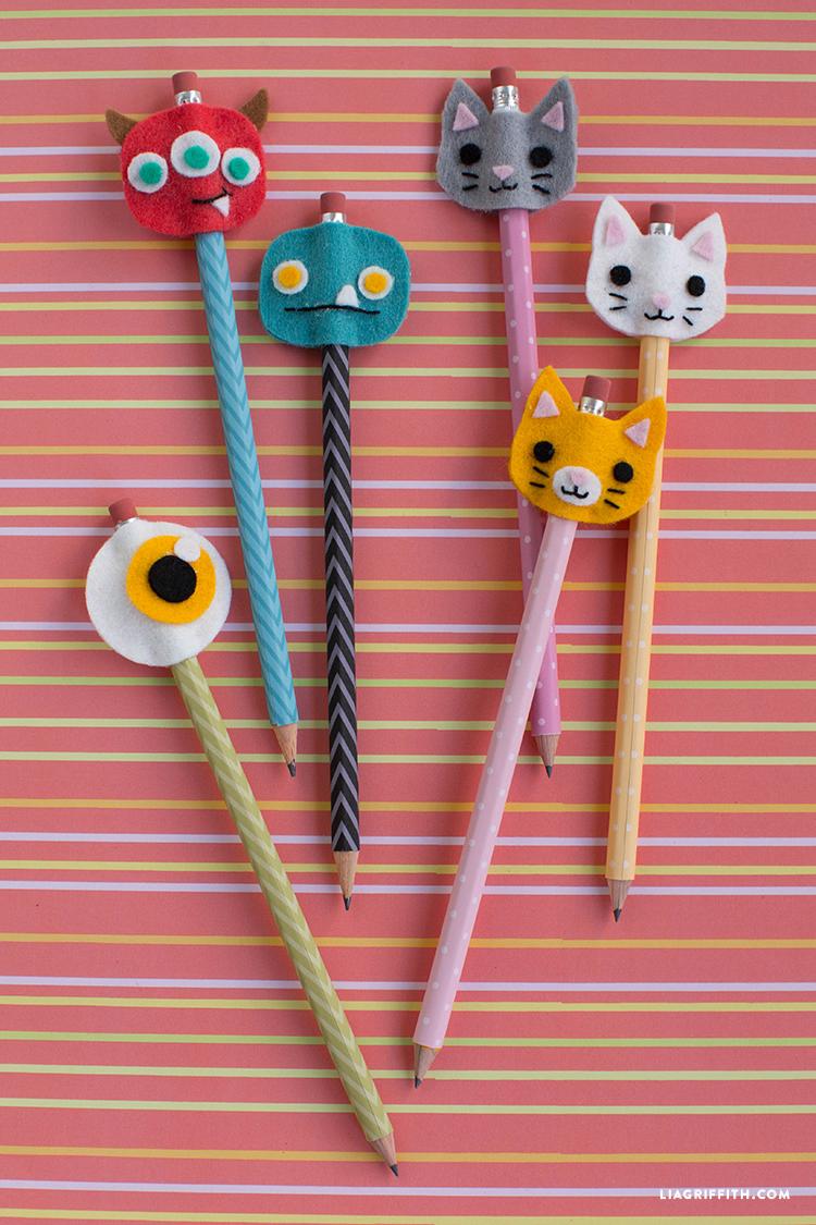 160819 penciltoppers crayon rentree scolaire diy Des crayons bien chapeautés pour la rentrée