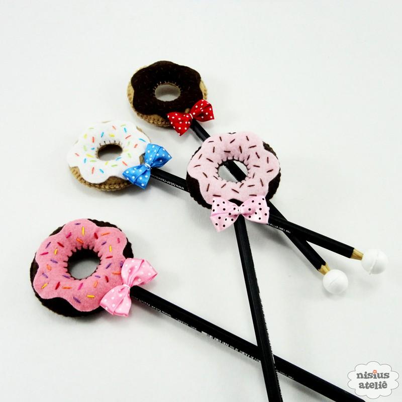 160821 pencil topper donuts rentree scolaire Des crayons bien chapeautés pour la rentrée