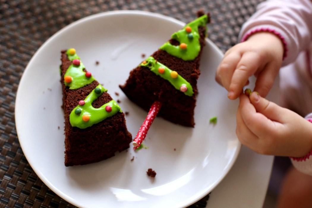 161212 gateau sapin mathilde 2 Nos sapins de Noel, moelleux au chocolat