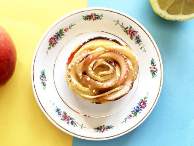 Citron + Pomme + Mercredi = Des roses tartes au Lemon Curd !