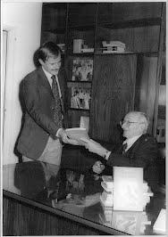 Alejandro Chafuén, junto a Hayek