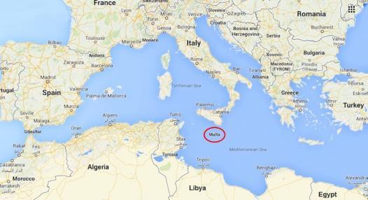 Mapa Malta Europa   thujamassages