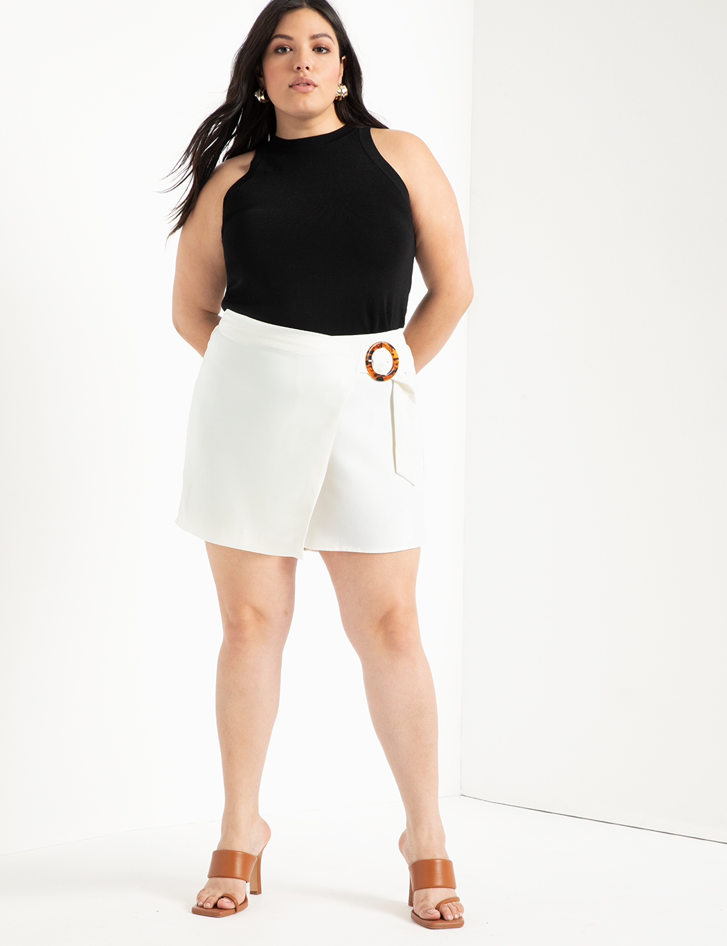 Wrap Front Skort with Buckle 9