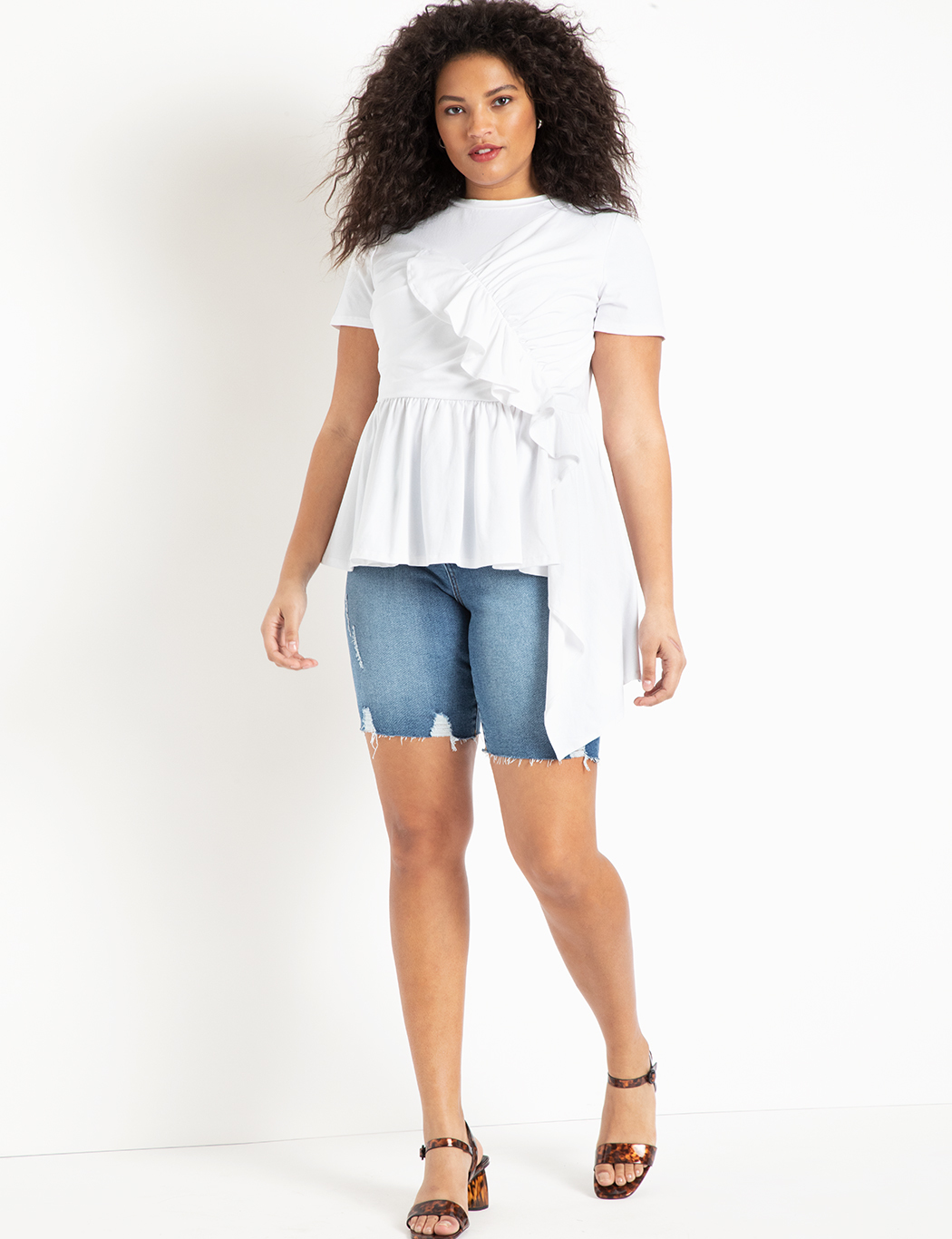 Denim Bermuda Shorts 7