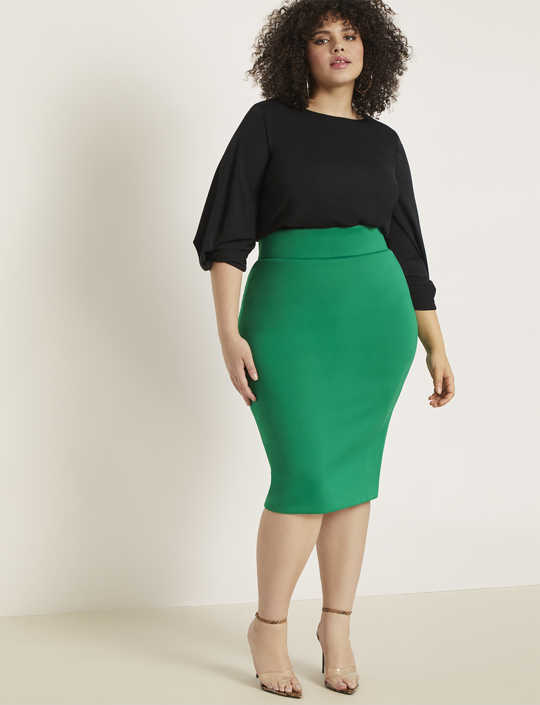 Neoprene Pencil Skirt 5
