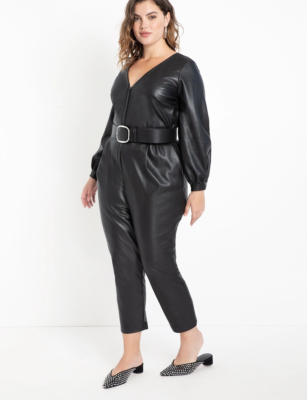 Faux Leather Jumpsuit 7