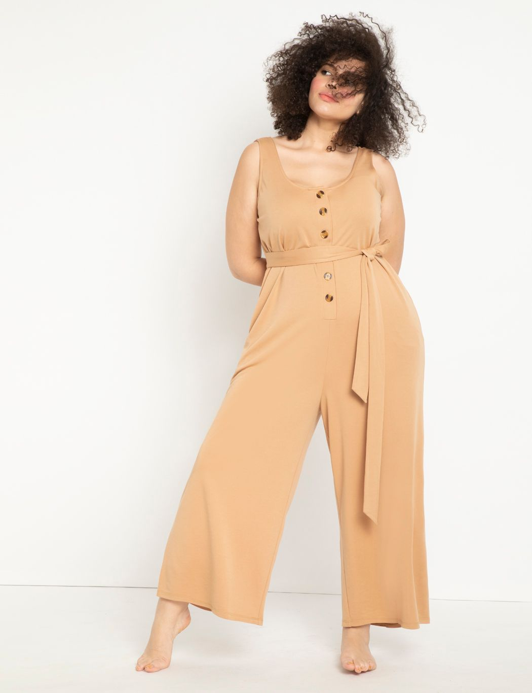 Easy Comfort Jumpsuit with Belt