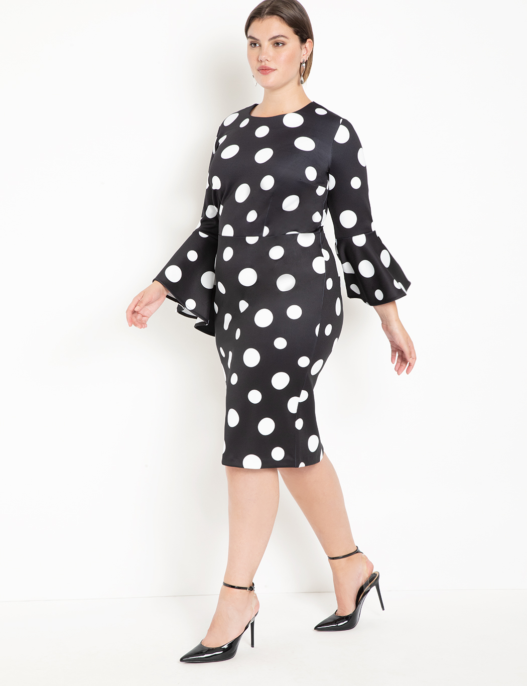 Flare Sleeve Scuba Dress 8