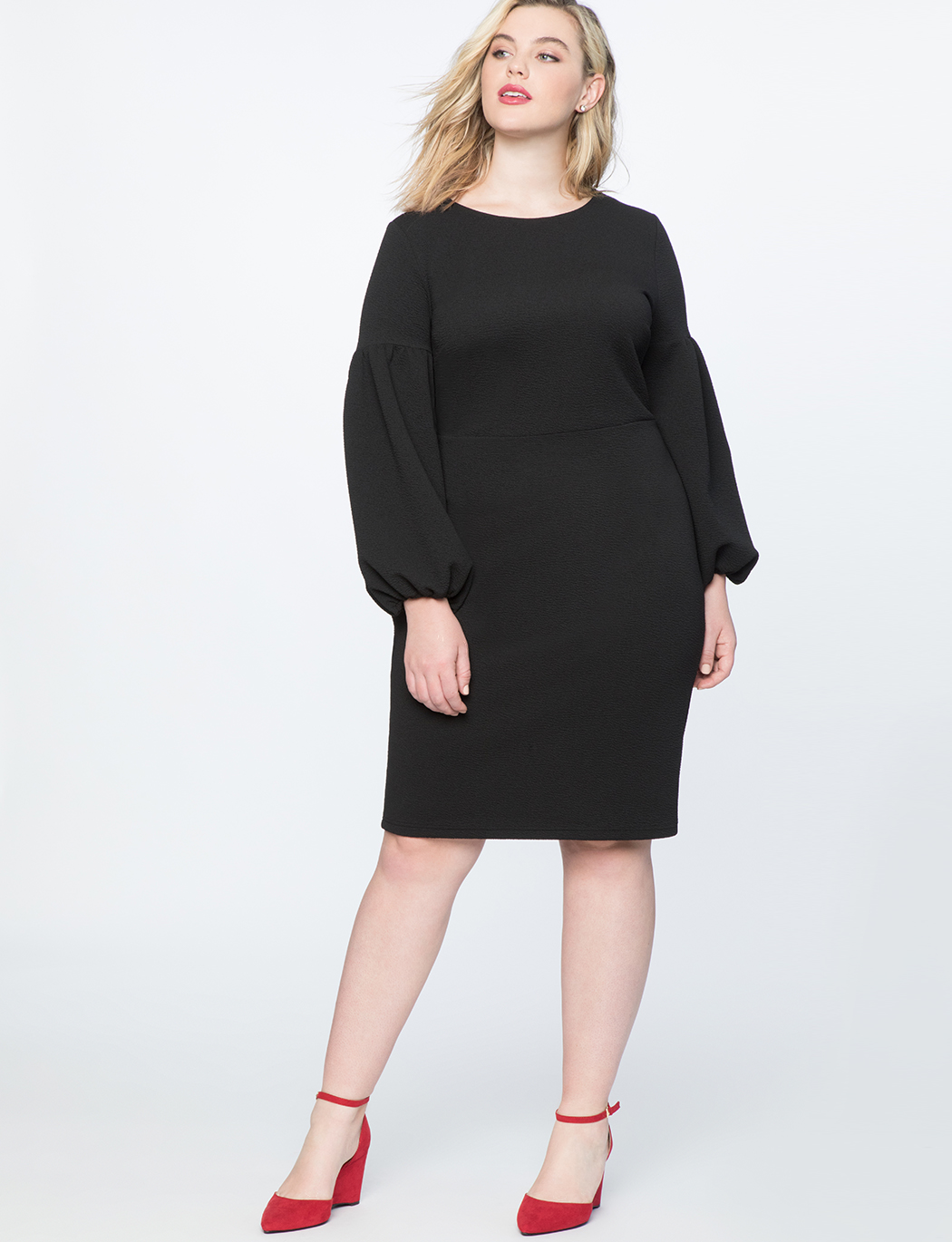 Puff Sleeve Bodycon Dress 6