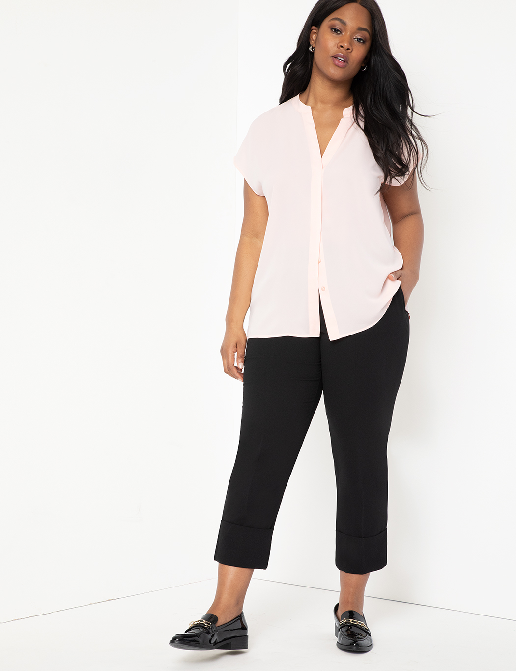 Cropped Pant with Cuff 10