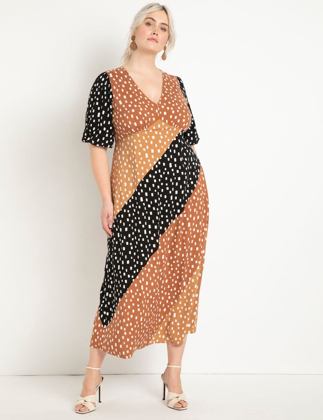 Mixed Dot Maxi Dress