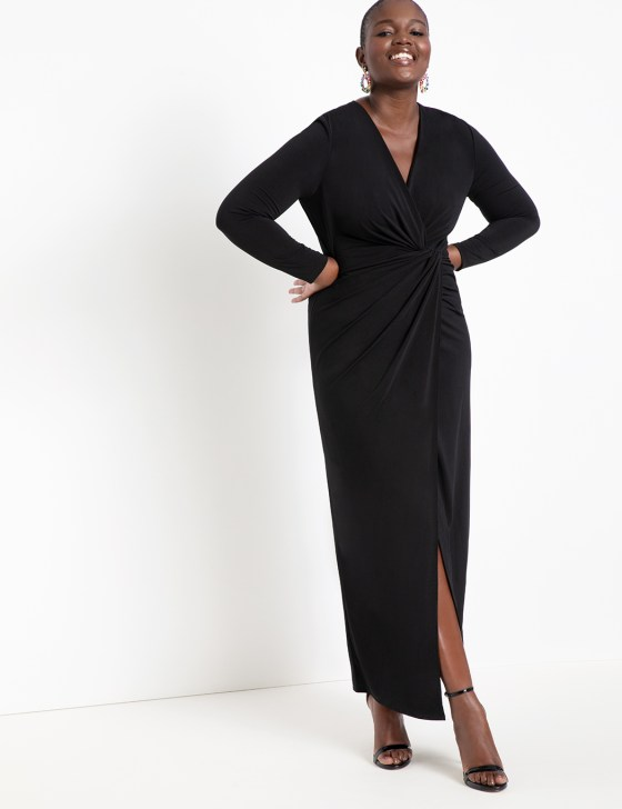 Twist Front Long Sleeve Gown 9