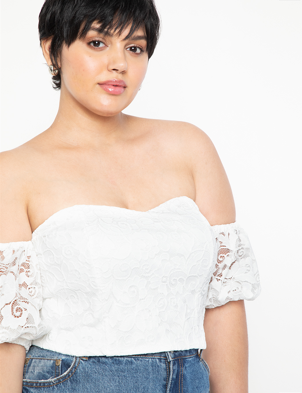 Off the Shoulder Lace Top 1