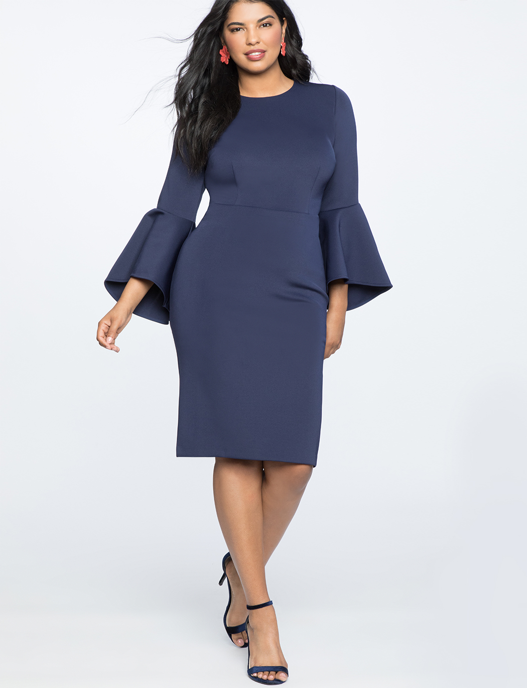 Flare Sleeve Scuba Dress 2
