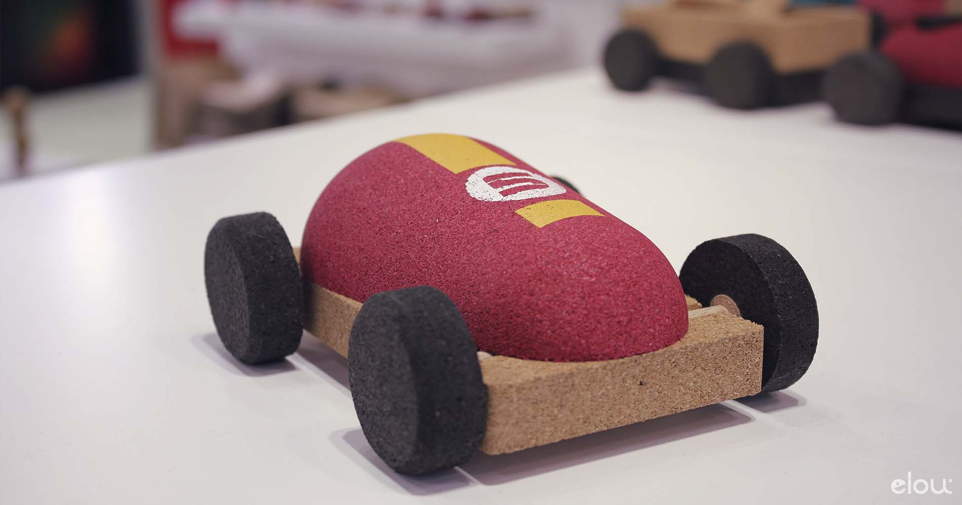 Sustainable toys made of cork