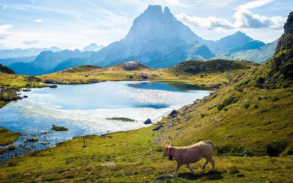 Vue sur la vallée d'Ossau Pyrénées