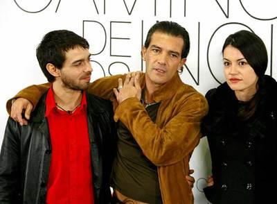 Antonio Banderas, Alberto Amarilla y Mar�a Ruiz en la presentación de 'El camino de los ingleses'