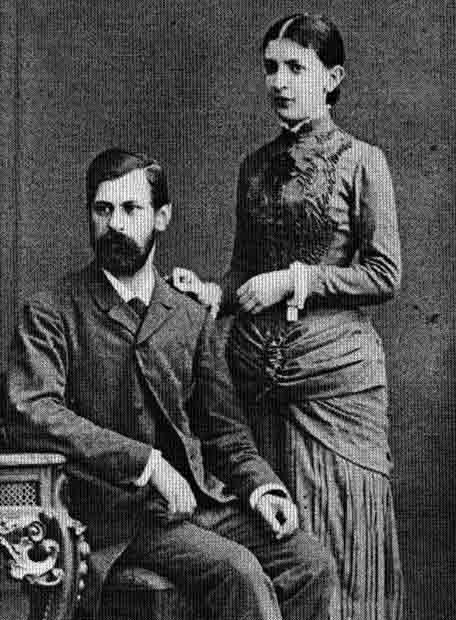 Sigmund Freud y su esposa, Martha Bernays-