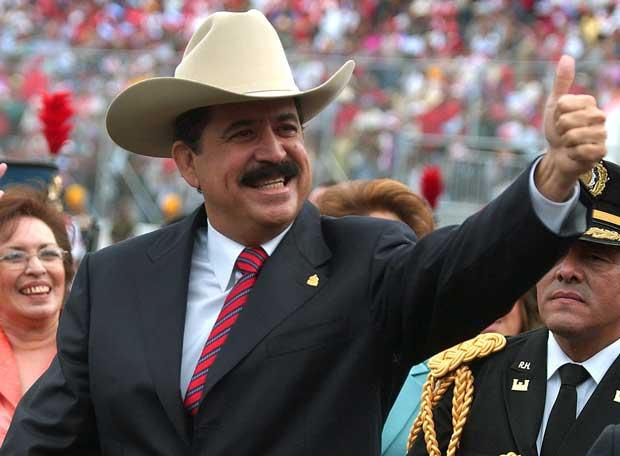 Manuel Zelaya, ousted