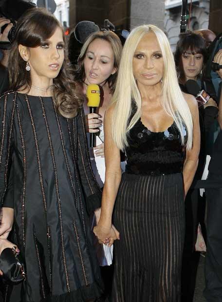 Donatella Versace y su hija Andrea