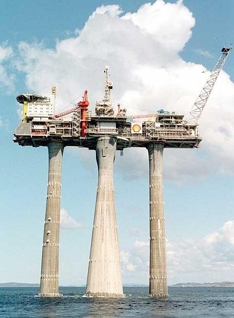 La plataforma Troll de gas natural
