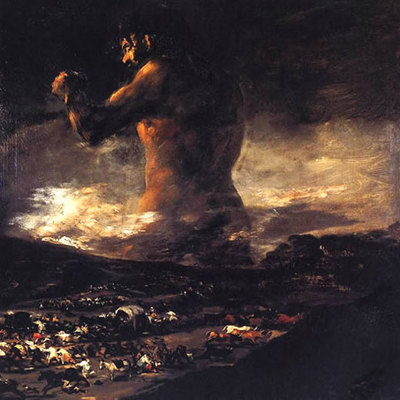 'El coloso', atribuido hasta ahora a Francisco de Goya, cuya autoria está en entredicho.
