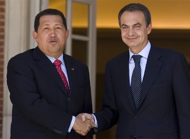 Zapatero recibe a Chavez