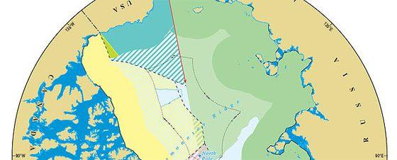 Mapa detallado de las disputas en el Ártico