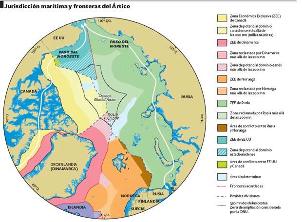 Jurisdición marítima y fronteras del Ártico