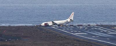 Boeing 737 en el Aeropuerto de Lanzarote
