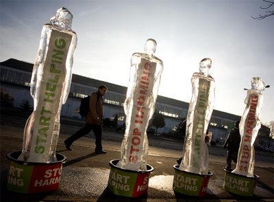 Esculturas de hielo contra el cambio climático- FRANCE PRESSE