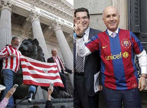 Erkoreka y Azpiazu, del PNV, y Durán i Lleida, de CIU, en el Congreso de los Diputados