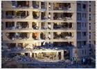 Estado de la casa cuartel de Burgos tras el atentado (REUTERS)