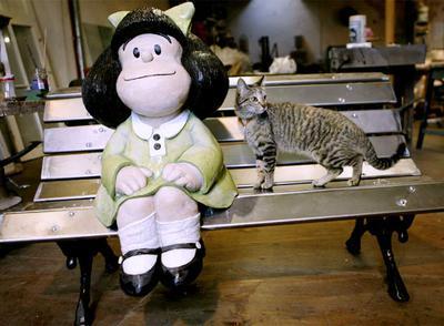 Estatua de Mafalda que se instalará en Buenos Aires