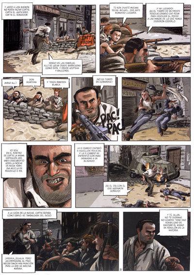 Una página de 'Las serpientes ciegas'