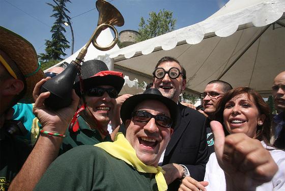 Mariano Rajoy de caracolada con los colegas