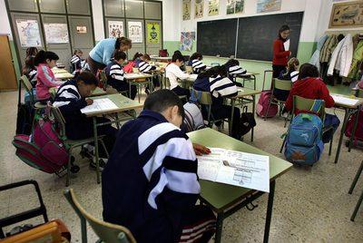 Alumnos en el colegio