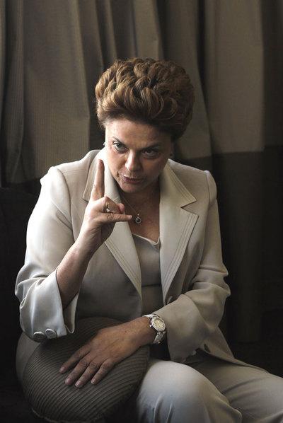 Dilma Roussef, em Madri.