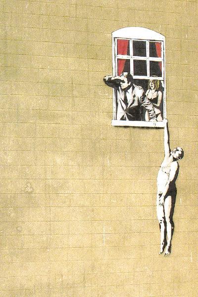 Imagen del filme de Banksy sobre el arte callejero
