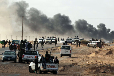 Un herido libio