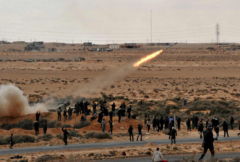 Combates en Libia  - Batería de misiles