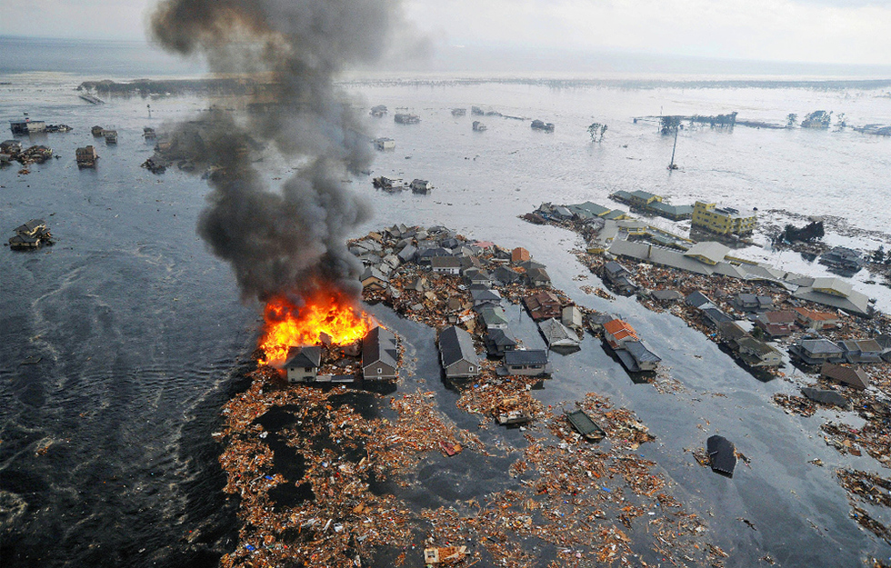 Terremoto en Japón  - Barrios bajo las aguas