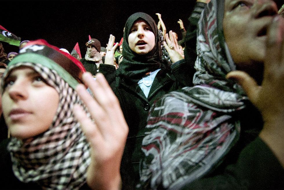 Júbilo en la revuelta libia contra Gadafi  - Entusiasmo en Bengasi