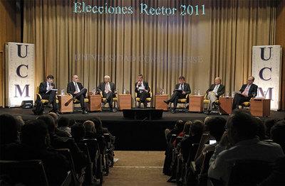 Reunión de candidatos a rector