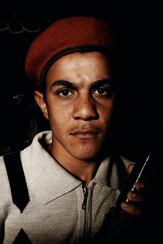 Retratos de rebeldes libios  - El estudiante convencido