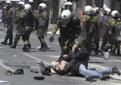 Altercados en Grecia