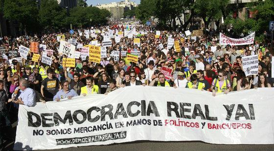 ESPAÑA MANIFESTACION 15 DE MAYO DEMOCRACIA REAL